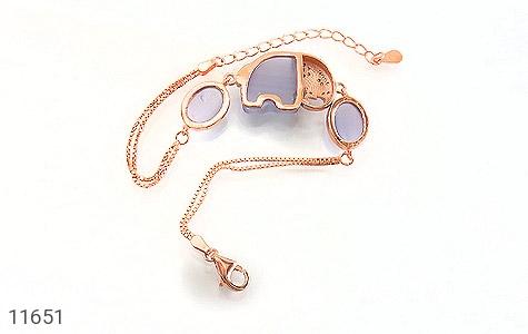 دستبند چشم گربه طرح فیل درشت و جذاب زنانه - تصویر 2