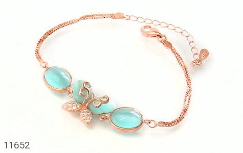 دستبند چشم گربه طرح پروانه زینتی زنانه - عکس 1