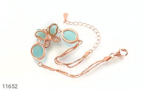 دستبند چشم گربه طرح پروانه زینتی زنانه - تصویر 2