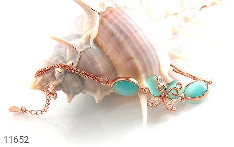 دستبند چشم گربه طرح پروانه زینتی زنانه - عکس 3