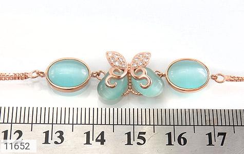 دستبند چشم گربه طرح پروانه زینتی زنانه - تصویر 4