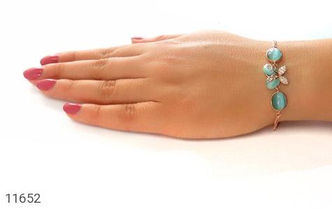 دستبند چشم گربه طرح پروانه زینتی زنانه - عکس 5