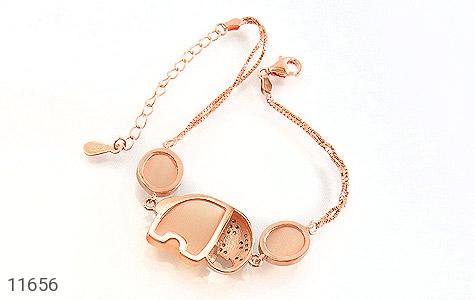 دستبند چشم گربه زینتی طرح فیل درشت زنانه - تصویر 2