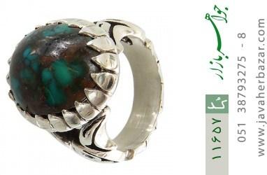 انگشتر فیروزه نیشابوری رکاب دست ساز - کد 11657