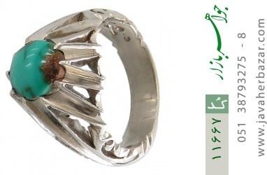 انگشتر فیروزه نیشابوری رکاب دست ساز - کد 11667