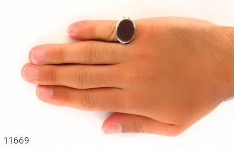 انگشتر عقیق یمن لوکس حکاکی و من یتق الله استاد قدر رکاب دست ساز - عکس 7