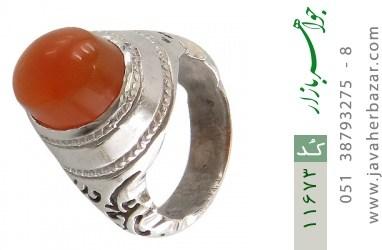 انگشتر عقیق یمن رکاب دست ساز - کد 11673
