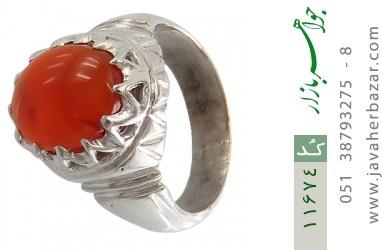 انگشتر عقیق یمن رکاب دست ساز - کد 11674