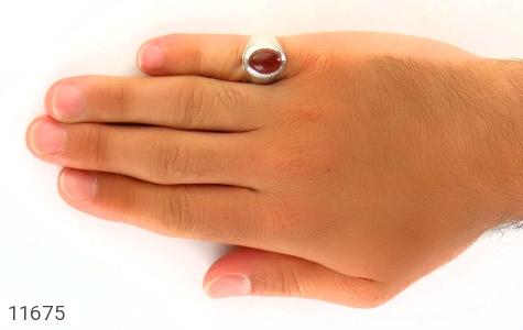 انگشتر عقیق یمن رکاب دست ساز - تصویر 8
