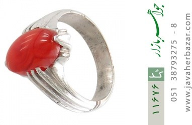 انگشتر عقیق یمن رکاب دست ساز - کد 11676