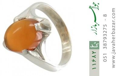 انگشتر عقیق یمن حکاکی شرف الشمس رکاب دست ساز - کد 11682