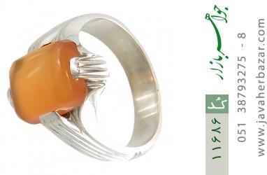انگشتر عقیق یمن حکاکی شرف الشمس رکاب دست ساز - کد 11686