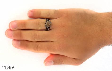 انگشتر عقیق ابر و بادی جذاب مردانه - عکس 7