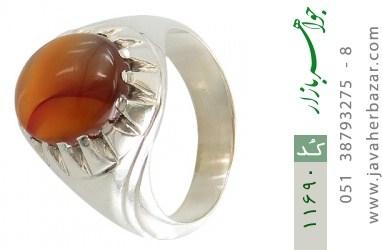 انگشتر عقیق یمن رکاب دست ساز - کد 11690