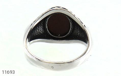 انگشتر چشم ببر طرح سیاه قلم مردانه - تصویر 4