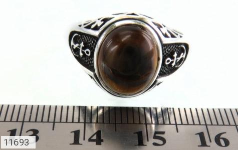 انگشتر چشم ببر طرح سیاه قلم مردانه - تصویر 6