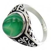 انگشتر عقیق سبز ابروبادی مردانه