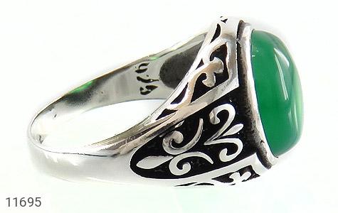 انگشتر عقیق سبز ابروبادی مردانه - عکس 3
