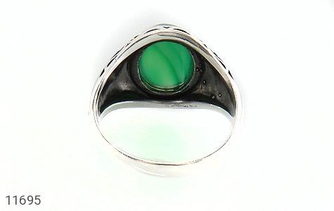 انگشتر عقیق سبز ابروبادی مردانه - تصویر 4