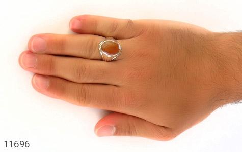 انگشتر عقیق حکاکی شرف الشمس رکاب دست ساز - عکس 7