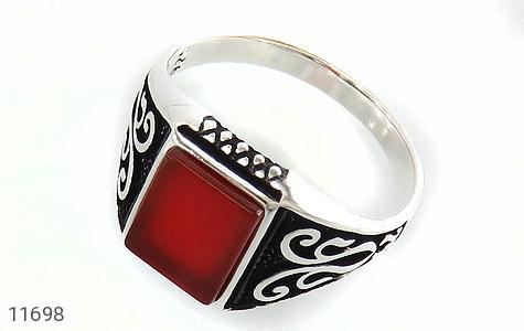 انگشتر عقیق قرمز خوش رنگ و جذاب مردانه - عکس 1