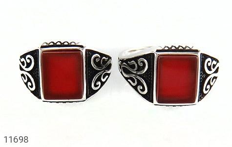 انگشتر عقیق قرمز خوش رنگ و جذاب مردانه - تصویر 2