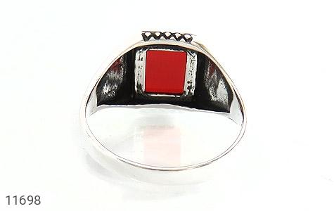 انگشتر عقیق قرمز خوش رنگ و جذاب مردانه - تصویر 4