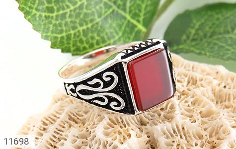 انگشتر عقیق قرمز خوش رنگ و جذاب مردانه - عکس 5