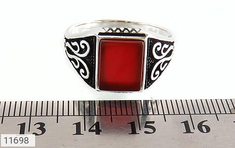 انگشتر عقیق قرمز خوش رنگ و جذاب مردانه - تصویر 6