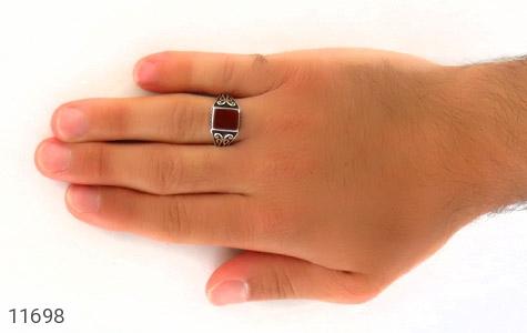 انگشتر عقیق قرمز خوش رنگ و جذاب مردانه - عکس 7