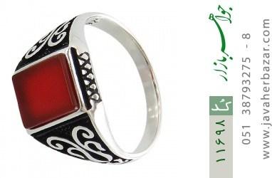 انگشتر عقیق قرمز خوش رنگ و جذاب مردانه - کد 11698