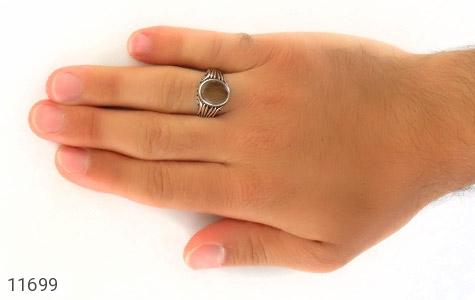 انگشتر عقیق راه راه طرح شیک مردانه - عکس 7