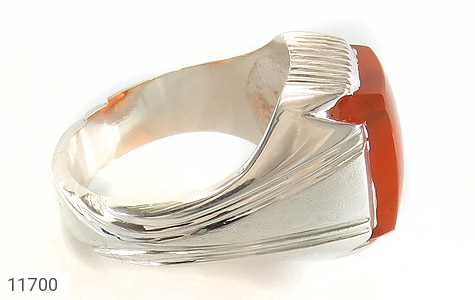 انگشتر عقیق یمن حکاکی شرف الشمس رکاب دست ساز - عکس 3