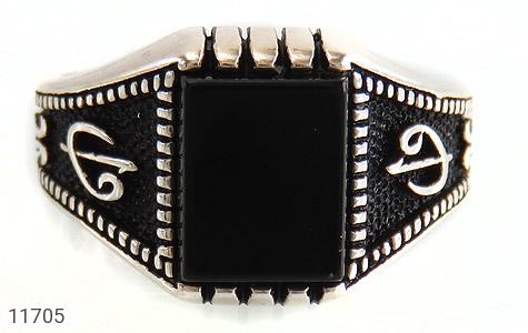 انگشتر عقیق سیاه طرح جذاب مردانه - تصویر 8
