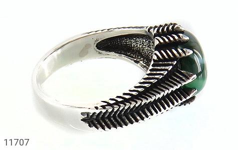 انگشتر عقیق سبز صفوی مردانه - عکس 3
