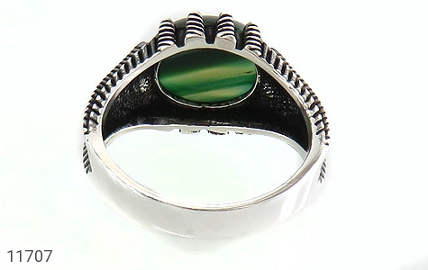 انگشتر عقیق سبز صفوی مردانه - تصویر 4