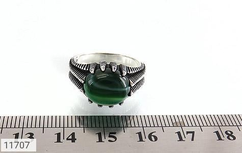 انگشتر عقیق سبز صفوی مردانه - تصویر 6