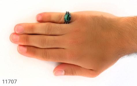 انگشتر عقیق سبز صفوی مردانه - عکس 7