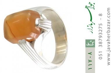 انگشتر عقیق یمن حکاکی شرف الشمس رکاب دست ساز - کد 11708
