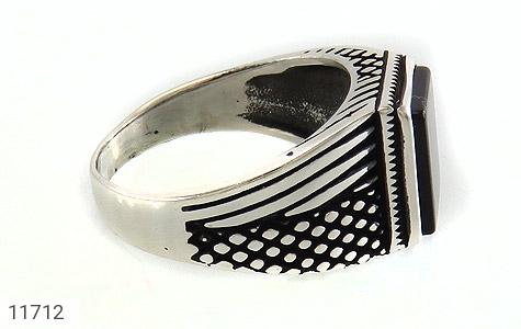 انگشتر عقیق سیاه کلاسیک مردانه - عکس 3