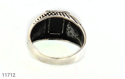 انگشتر عقیق سیاه کلاسیک مردانه - تصویر 4