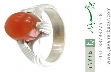 انگشتر عقیق یمن رکاب دست ساز - کد 11715