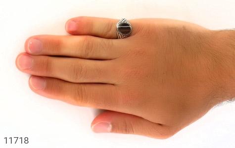 انگشتر عقیق خوش نـقش مردانه - عکس 7