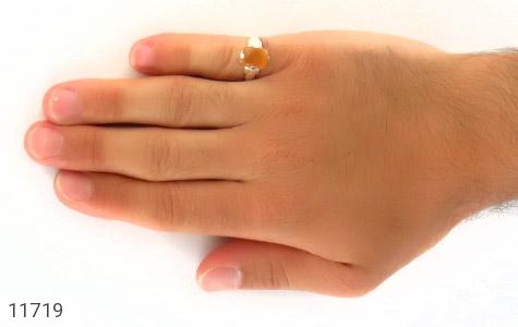 انگشتر عقیق یمن حکاکی شرف الشمس رکاب دست ساز - عکس 7