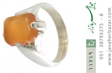 انگشتر عقیق یمن حکاکی شرف الشمس رکاب دست ساز - کد 11719