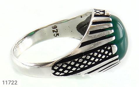 انگشتر عقیق سبز مردانه - عکس 3