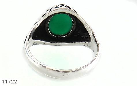 انگشتر عقیق سبز مردانه - تصویر 4