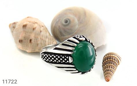 انگشتر عقیق سبز مردانه - عکس 5