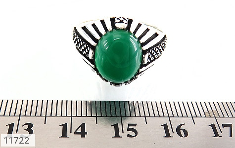 انگشتر عقیق سبز مردانه - تصویر 6
