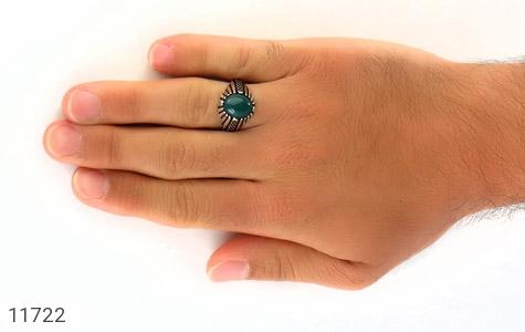 انگشتر عقیق سبز مردانه - عکس 7